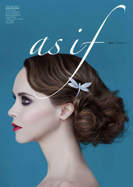Glamorously Petite Fashion - The As If Magazine Issue 3 Cover Shoot Stars Actress Christina Ricci