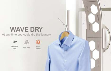 Solar Clothes Dryers - The Wave Dry Harvests the Sun