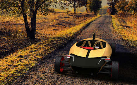 Sculpted Timber Toy Cars - The Toby Concept Car is Made as Meticulously as a Musical Instrument