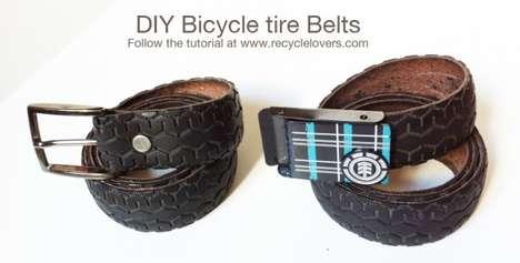 Upcycled Bike Tire Belts - This DIY Recycled Tire Belt is a Chic Way to Reuse Worn Out Tires