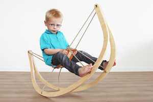 The GRO^ Rocking Horse Expresses Itself as a Minimalist Timber Frame