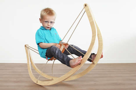 Stringed Swaying Seats - The GRO^ Rocking Horse Expresses Itself as a Minimalist Timber Frame
