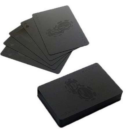 Monochromatic Playing Cards - MollaSpace's Black Playing Card Set is Luxe and Elegant