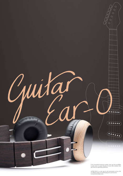 Upcycled Guitar Headphones - This Unusual Headphone Design is Made from an Old Guitar