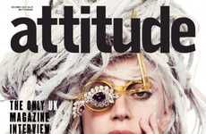 Steampunk Songstress Covers - The 'Attitude' Lady Gaga Magazine Cover Features an Unusual Eyepiece