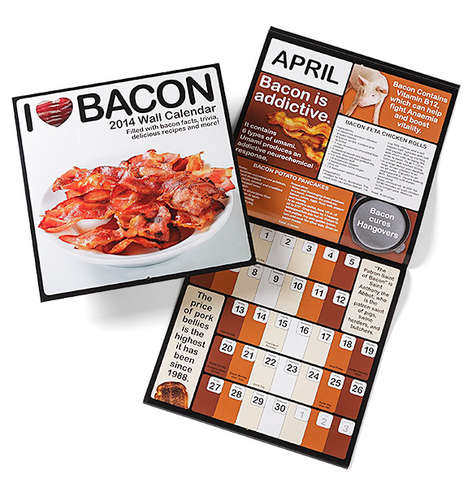 Porky Planners - This 2014 Bacon Calendar is Full of Recipes, Trivia and Fun Food Facts