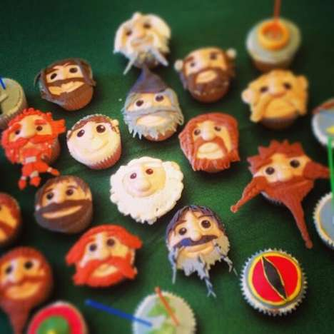 Fantasy Film Desserts - These Superfan-Made Hobbit Cupcakes Celebrate Birthdays and Movie Releases