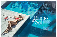 Glamorous Sunbathing Editorials - The InStyle Brazil 'Banho de Sol' Photoshoot Stars Giovanna Ewbank