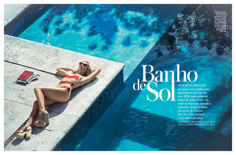 Glamorous Sunbathing Editorials - The InStyle Brazil