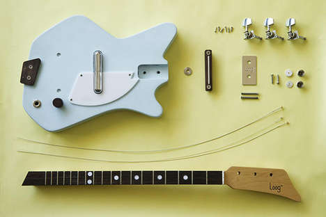 Self-Assembled Kid Guitars - The Electric Loog by Rafael Atijas Boasts Only Three Strings