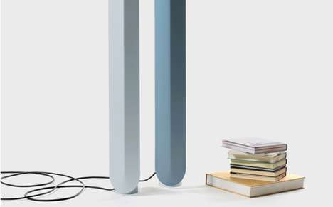 Slender Candlestick Fixtures - The Pas de Deux Lamp Emulates the Tall and Slim Profile of Tapers