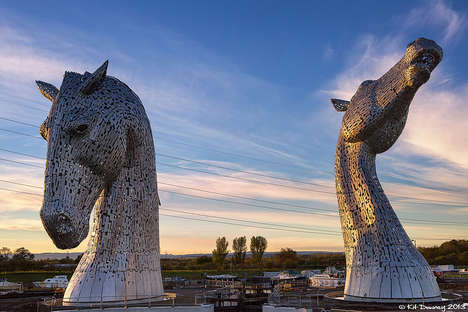 Giant Horse Head Sculptures - Kelpies by Andy Scott Pays Tribute to the Heritage of Scotland
