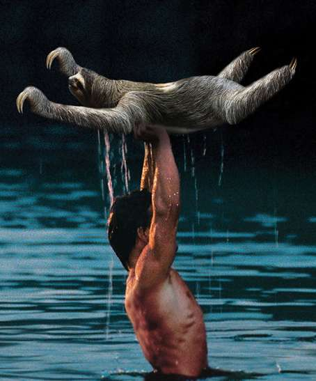 Sloth-Replacing Movie Scenes - The Sloth Dirty Dancing Poster Replaces Baby with the Lazy Animal