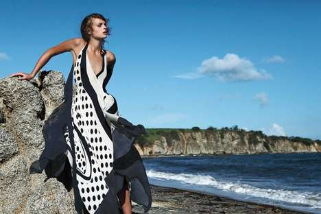 Craggy Beach Ediorials - The Bergdorf Goodman Resort 2014 Photoshoot Stars Agnete Hegelund
