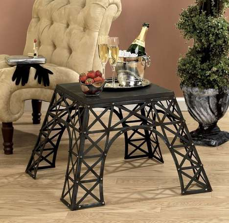 Romantic City-Inspired Tables - Add a Little Paris to Your Home Decor with This Eiffel Tower Table