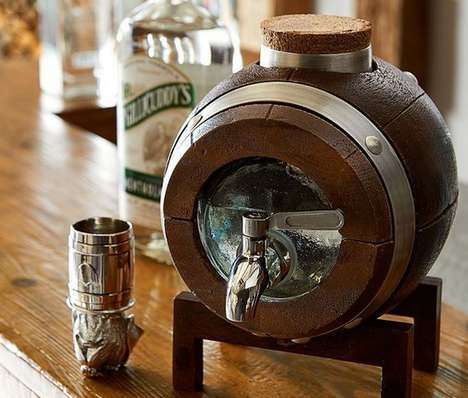 Bar-Top Beverage Barrels - Small Whiskey Barrels are Must-Haves for New Bars