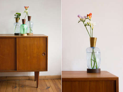 Homemade Glass-Blown Vases - BLOW by Ruben der Kinderen is Created Using a Toaster Oven and Air Pump