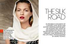 Exotical Urban Editorials - The Vogue 'The Silk Road' Photoshoot Stars Kate Moss & Chiwetel Ejiofor
