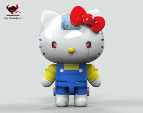 Celebratory Fighting Feline Toys - Hello Kitty Celebrates a Happy Birthday as the New Bandai Robot