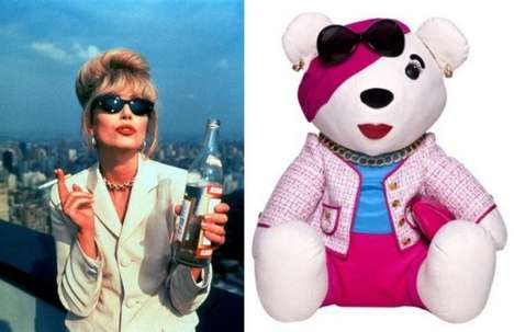 Patsy Stone-Inspired Teddy Bears - Joanna Lumley Designs an Absolutely Fabulous Teddy Bear