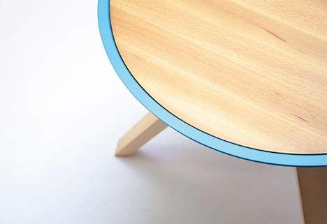 Screwable Nesting Tables - The Giros Table by Cristian Reyes Studio Twists Open for More Space