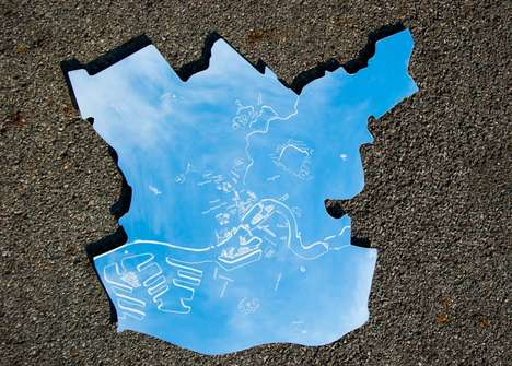 Story-Telling Mirror Maps - This City Map Mirror Series Tells the Story of Rotterdam