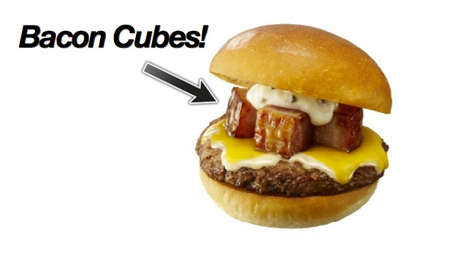 Japanese Bacon Cube Burgers - Lotteria Will Start Offering These Deluxe Cheeseburgers on November 29