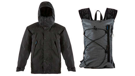 Hybrid Raincoat-Backpacks - This Convenient Carry-All is Also a Multi-Purpose Jacket in the Rain
