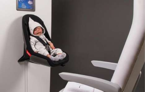 Aircraft Infant Capsules - The AirBorn Baby Seat Keeps Parent and Child Protected During Flight