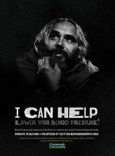 Self-Centered Homeless Ads - A New York Non-Profit Homeless Campaign Indicates Health Benefits