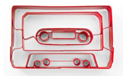 Musical Baking Implements - The Cassette Tape Cookie Cutter Serves Up a New Sort of Retro Icon