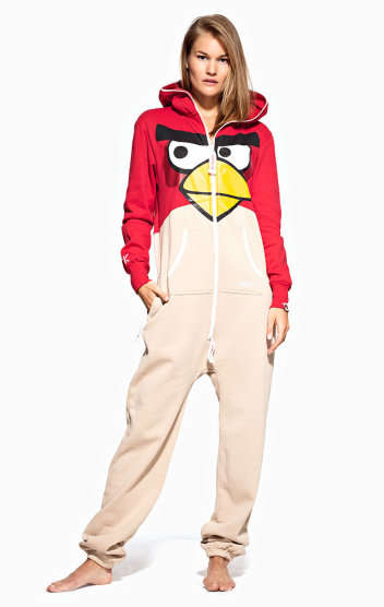 Avian Themed Adult Onesies - The Angry Bird Onesie From OnePiece is Perfect for Gamers