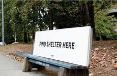 Multi-Message Bench Marketing - This Homeless Shelter Advertising Campaign Has Multiple Functions