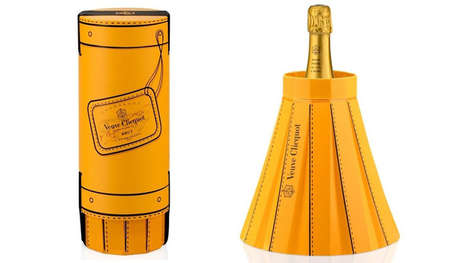 Transformative Champagne Chillers - 'Fashionably Clicquot' Changes Shape to Keep Champagne Cold