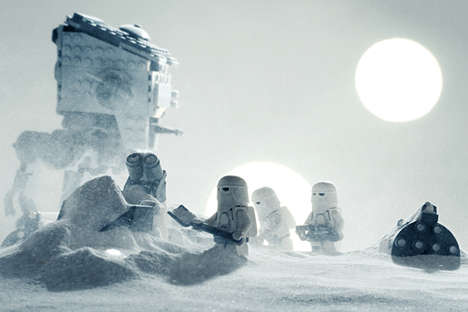 Galactic Toy Recreations - This Extremely Epic Photographic Set is of Star Wars LEGO Scenes