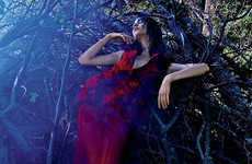 Scandanavian Enchanted Forest Editorials - Manon Leloup Stars in V Magazine Fall 2013