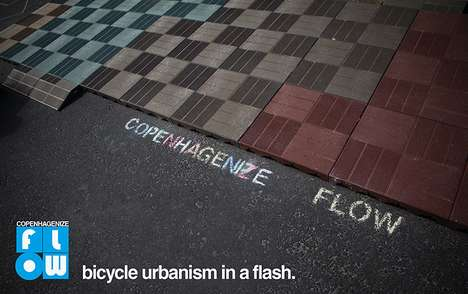 Lego-Like Bike Lanes - The Copenhagenize Flow is a Permanent Solution for Urban Cyclists
