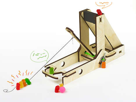 Catapulting Wooden Toys - The Trebuchette by E&M Labs Turns the Office into a Warzone