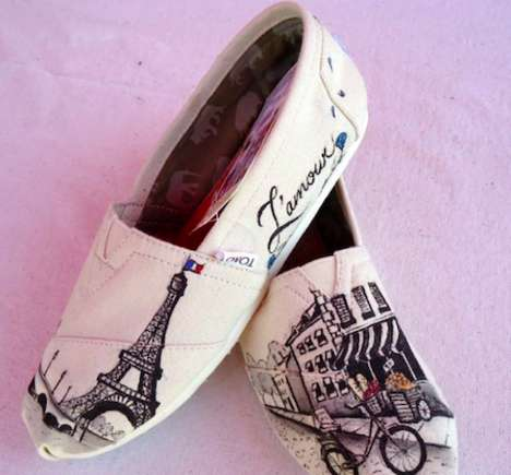 28 Sentimental Shoe Designs - From Sweetheart Speckled Sneakers to Romantic City Slippers