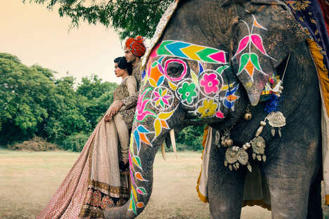 Exotic Wedding Editorials - The Vogue India November 2013 Photoshoot Stars Betrothed Signe Vilstrup