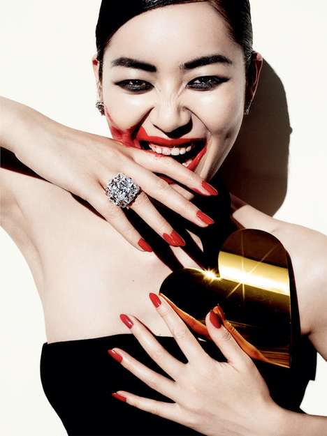 Glamorously Barbaric Editorials - The Vogue China
