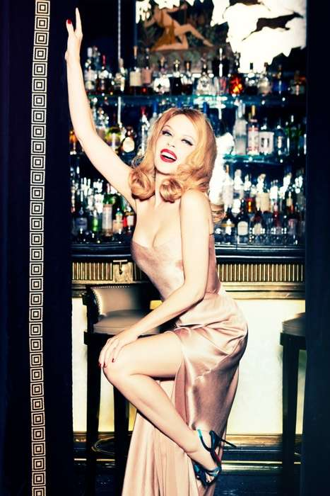Glam Showgirl Editorials - The GQ Germany December 2013 Photoshoot Stars Kylie Minogue