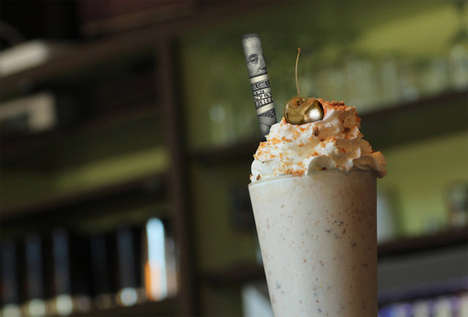 Luxurious Gold-Infused Beverages - Customers Will Expect the Best with a $500 Milkshake on This Menu