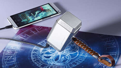Powerful Hammer-Shaped Chargers - This Thor Hammer Charges Devices with the Might of a Superhero