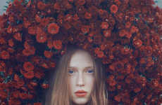Foliage-Focused Photography - Oleg Oprisco's Serene Surreal Portraits Highlight Natural Elements