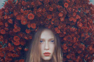 Oleg Oprisco's Serene Surreal Portraits Highlight Natural Elements