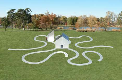 Interactive Meandering Houses - This Artsy House Installation Explores the