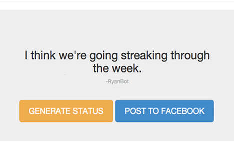 Silly Status Generating Sites - What Would I Say Creates Personalized Nonsense Facebook Updates