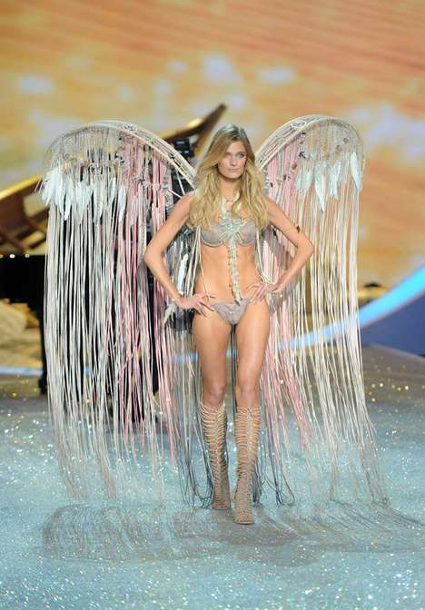 Whimsical Winged Lingerie Shows - The Victoria