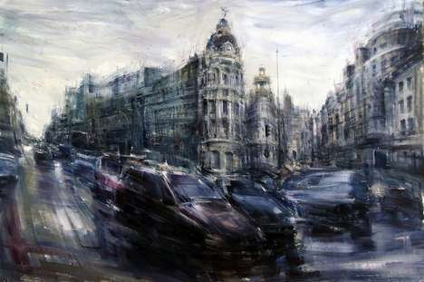 Chaotic Urban Dwelling Paintings - Alessandro Papetti Captures Loneliness in His Cityscape Paintings